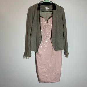 Dresses - Sexy pink latex dress size small